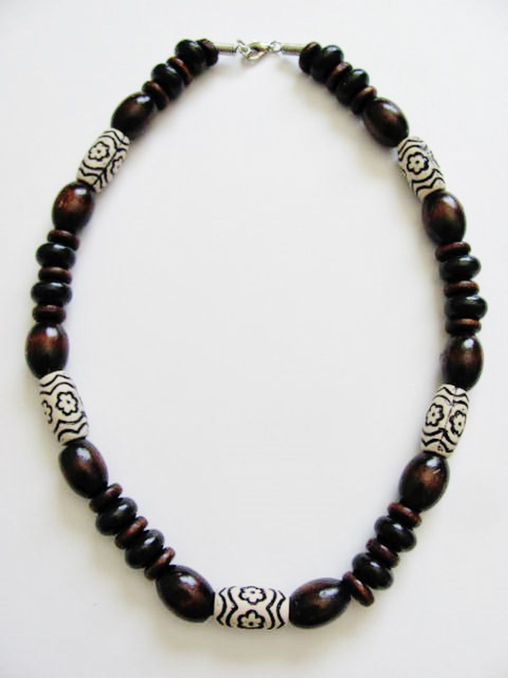 large brown wooden bead surfer necklace s unisex