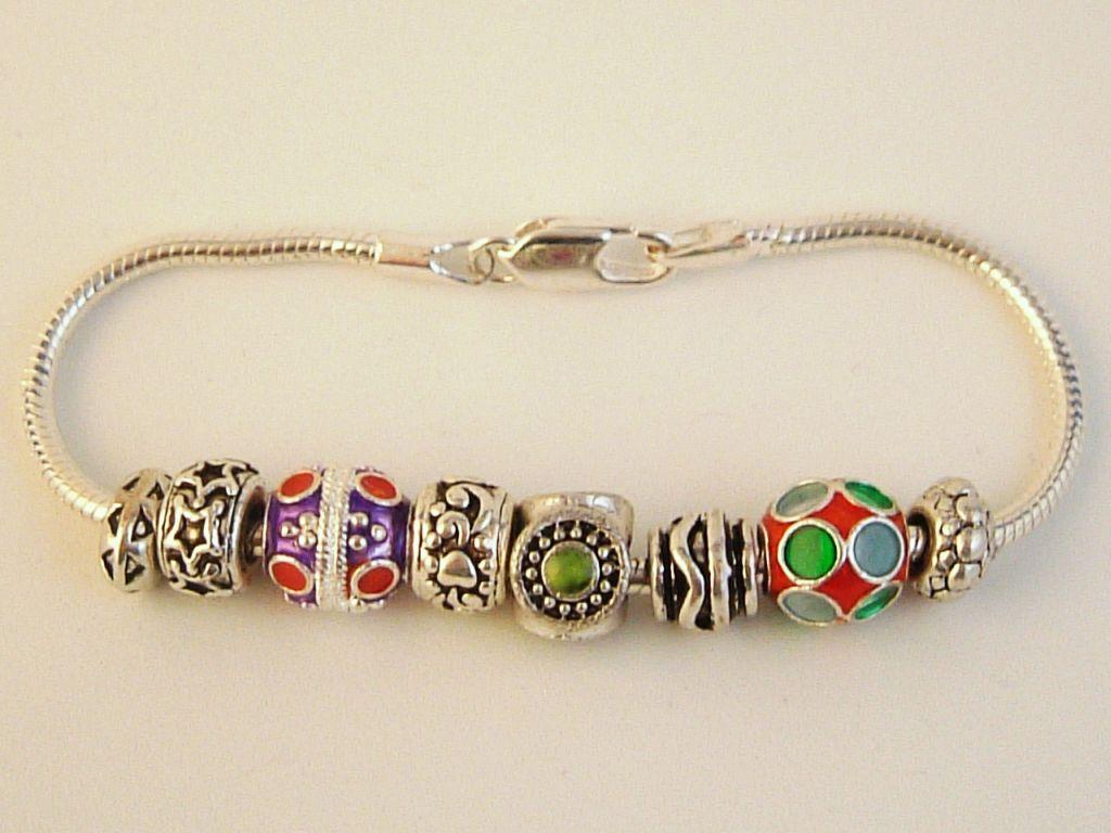 pandora inspired ornaments charm bracelet