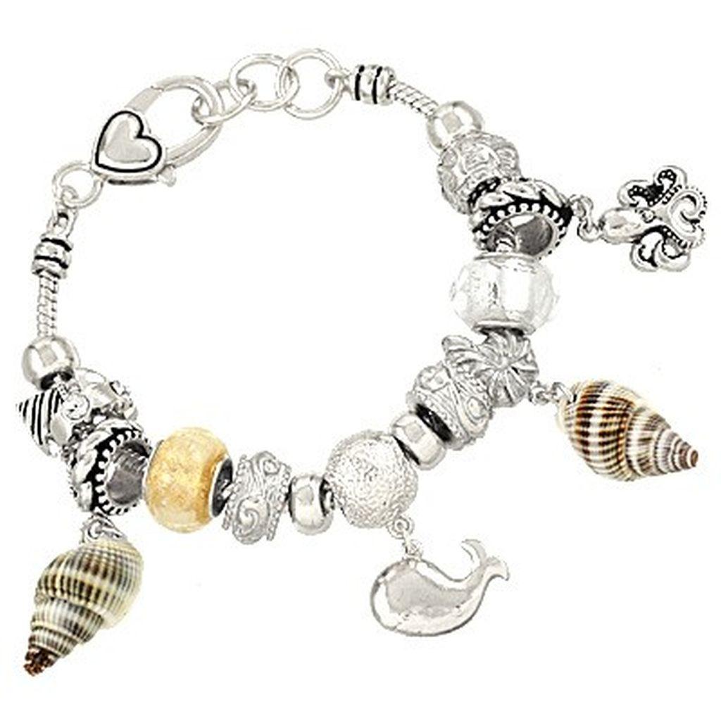 pandora inspired sea charm bracelet dolphin octopus