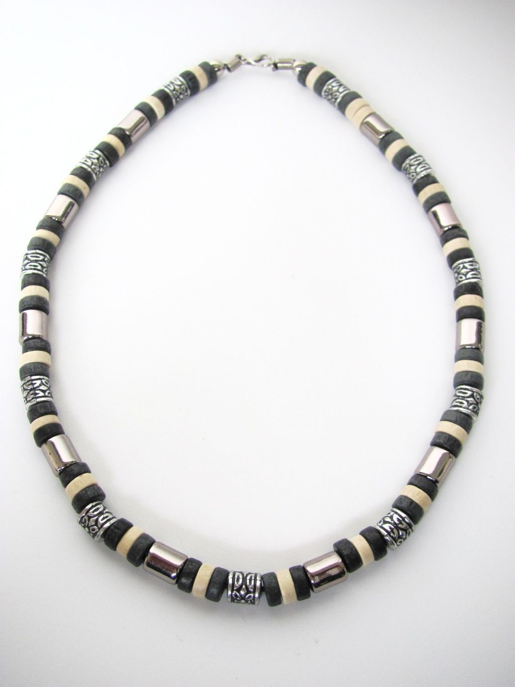 tri tone black surfer beaded necklace s jewelry