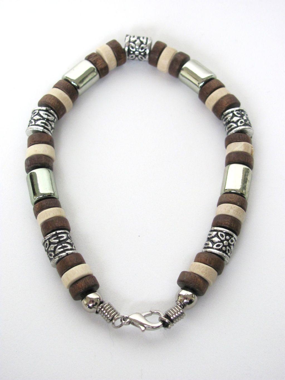 tri tone brown surfer beaded bracelet s jewelry
